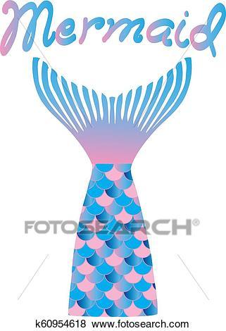 Mermaid tail Clip Art.