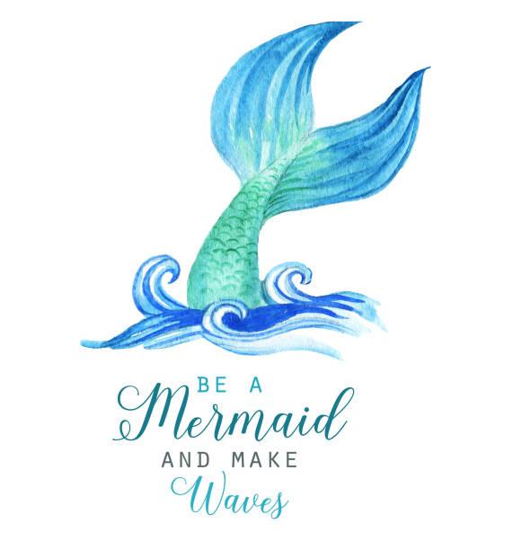 Best Mermaid Tail Illustrations, Royalty.