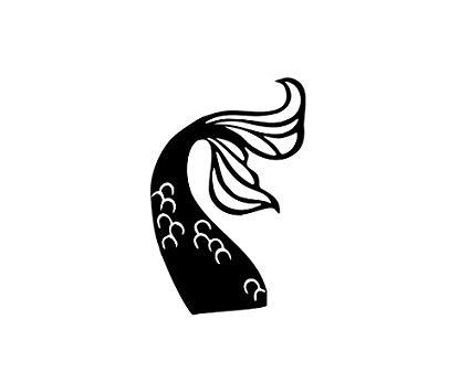 Amazon.com: Mermaid tail Vinyl Decal Sticker (Black.