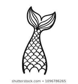 Mermaid tail clipart black and white 2 » Clipart Portal.
