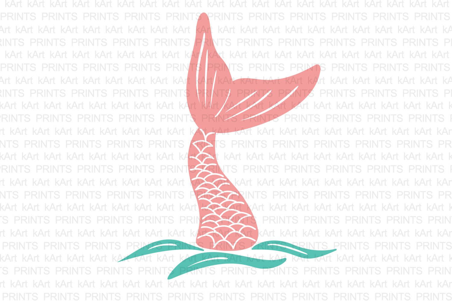 Mermaid Tail Drawing.