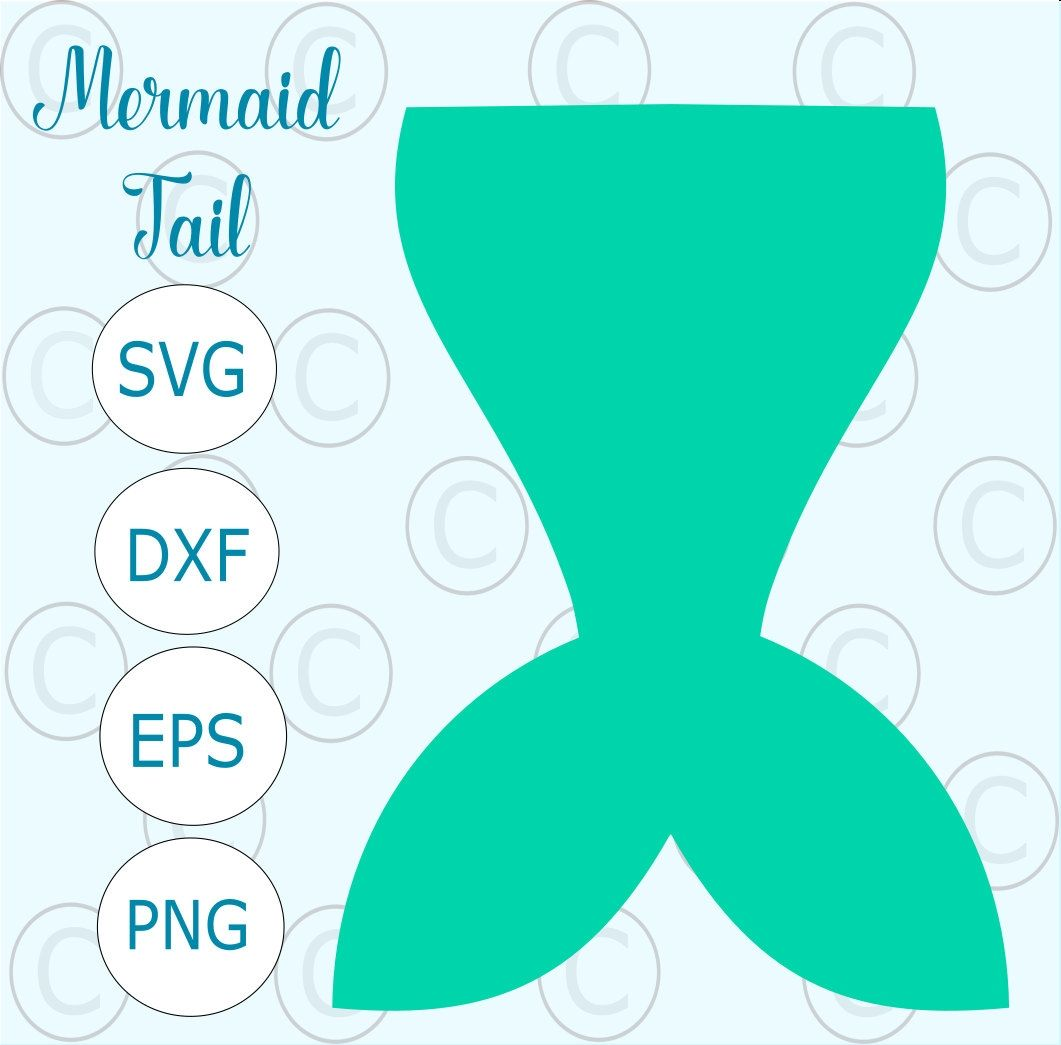 New Mermaid Tail Clipart Design.