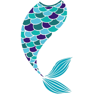 Mermaid Tail Silhouette Black And White Clipart Px Image Png.