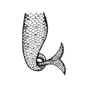 Download Mermaid Tail Clipart Outline 13