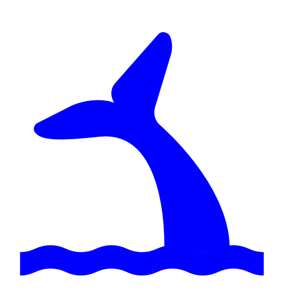 Mermaid Tail Coming Out Of Water Clipart.