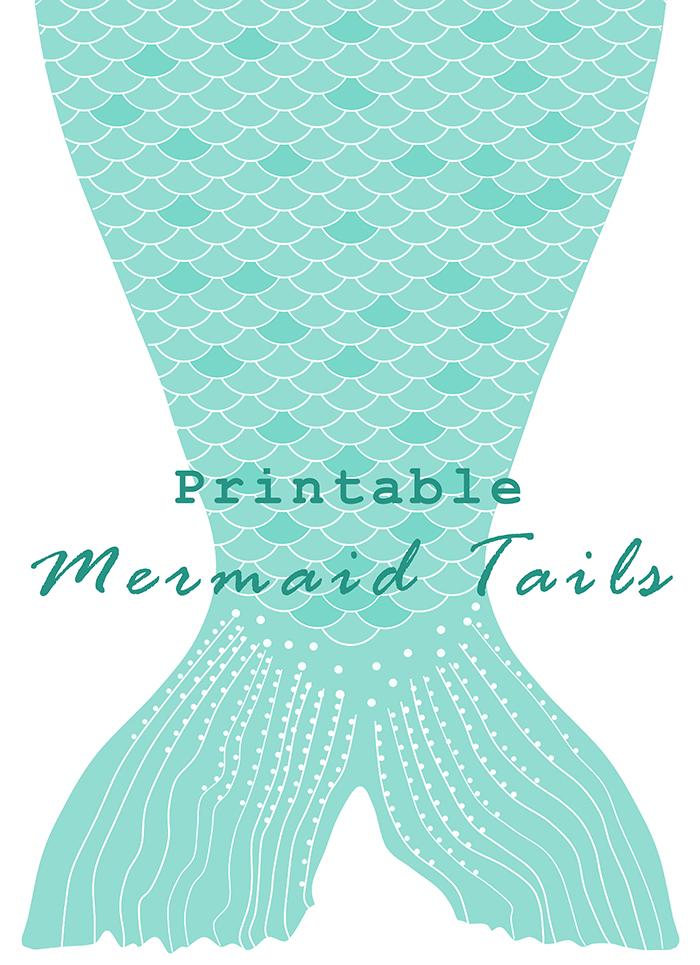 DIY Printable Paper Mermaid Tails.