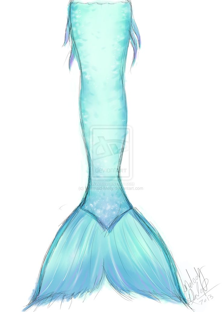 Mermaid Tail Coming Out Of The Water Clipart.
