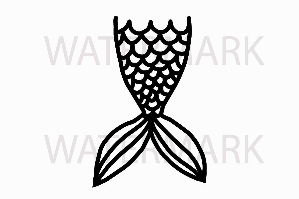 Just Outline Mermaid tail.