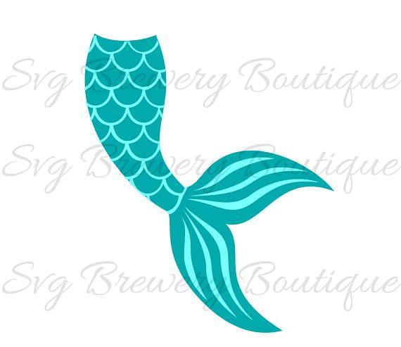 Mermaid Tail Clipart Silhouette.