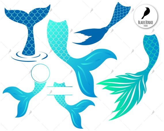 Mermaid tail svg, mermaid svg, mermaid tail clipart, whale.