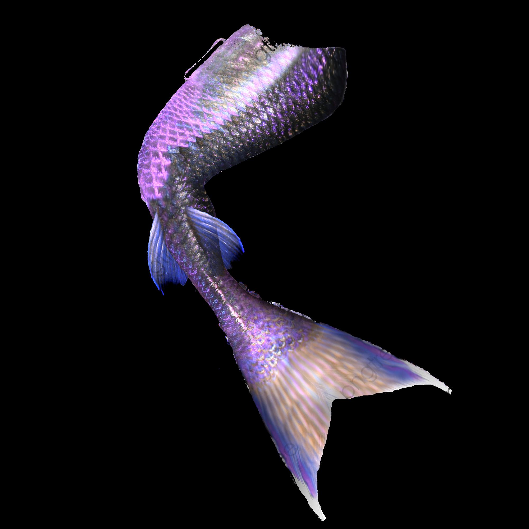 Pretty Purple Mermaid Tail, Mermaid Clipart, Purple Mermaid.