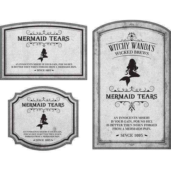 potion label mermaid tears.