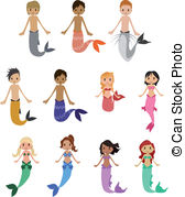 Merman Clipart and Stock Illustrations. 200 Merman vector EPS.