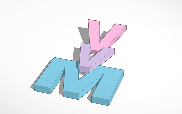 3D design merrell twins logo.
