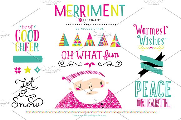 Merriment & Sentiment (Clipart) ~ Illustrations on Creative Market.