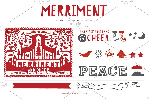 Merriment (Clipart) ~ Illustrations on Creative Market.