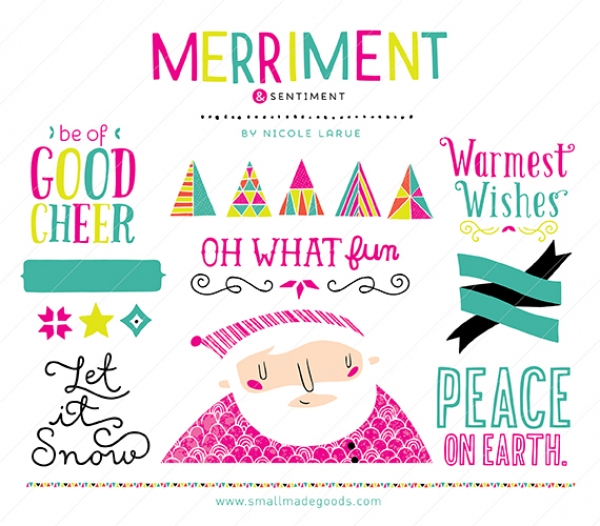 Merriment & Sentiment (Clipart).