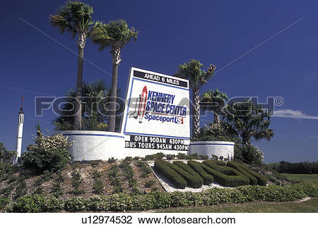 Stock Photo of Kennedy Space Center, FL, Florida, Spaceport USA.