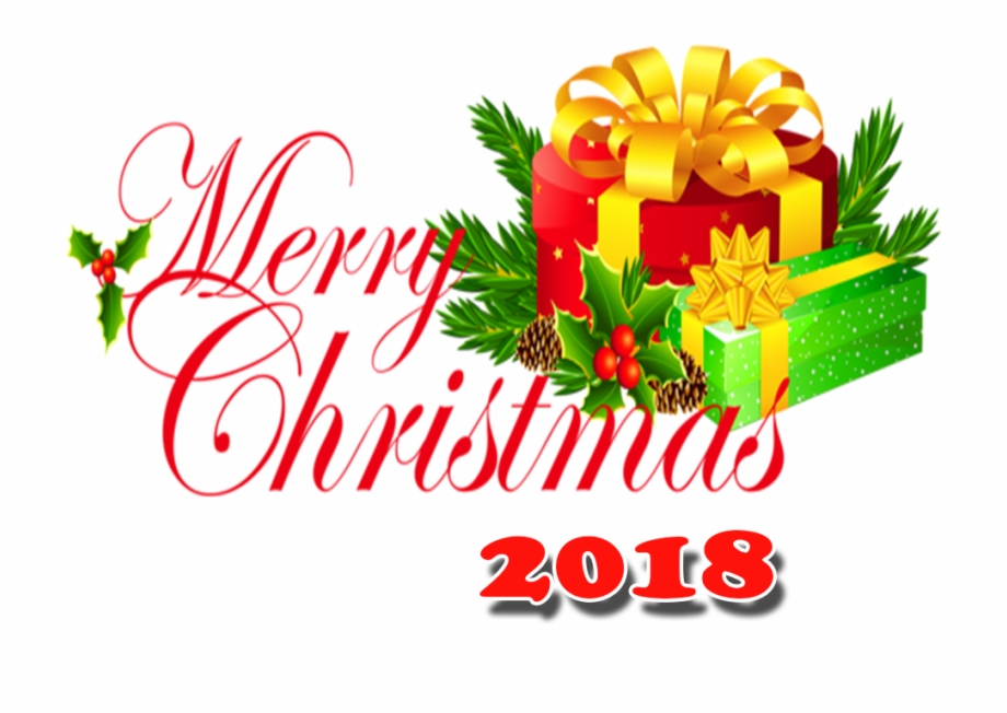 Merry Christmas 2018 Png With Hd Png.