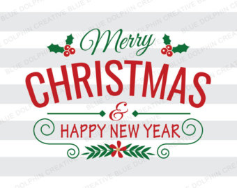 Merry Christmas And Happy New Year 2018 Clipart.