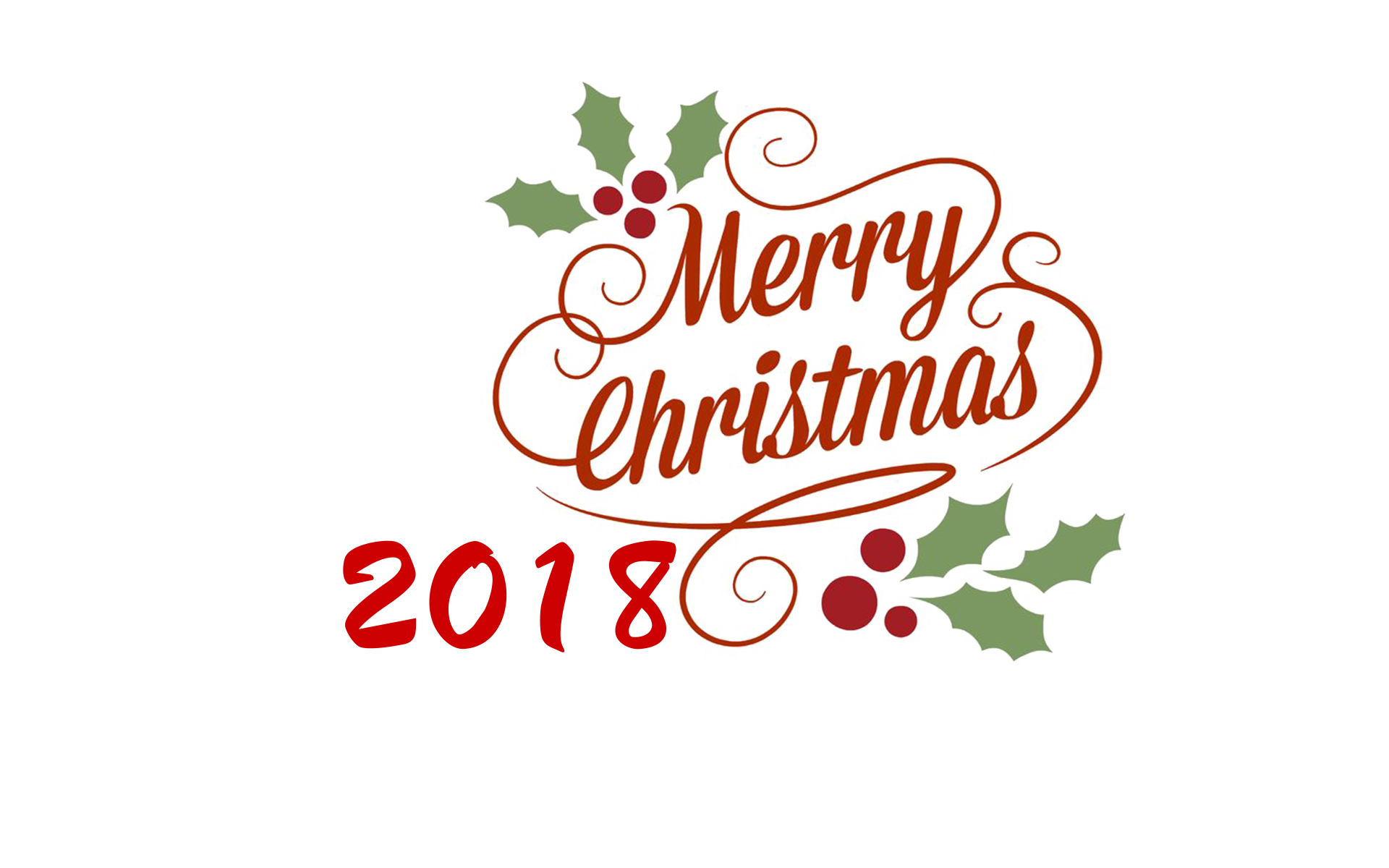 Merry Christmas 2018 PNG Transparent.