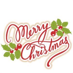 Merry Christmas Playful Text transparent PNG.