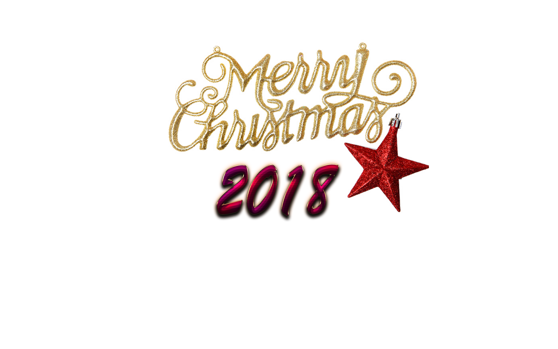Merry Christmas 2018 PNG Photo.