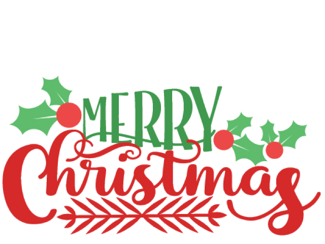 Merry Christmas 2018 PNG Transparent File.