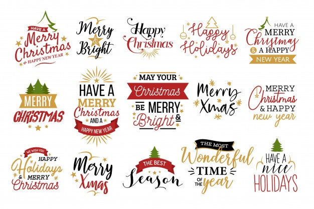 Merry Christmas And Happy New Year Vectors, Photos and PSD.