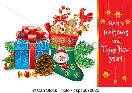 Clipart merry christmas and happy new year 1 » Clipart Portal.