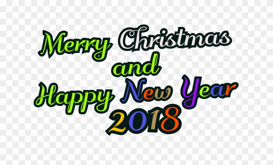Merry Christmas And Happy New Year Images 2018 Clipart.