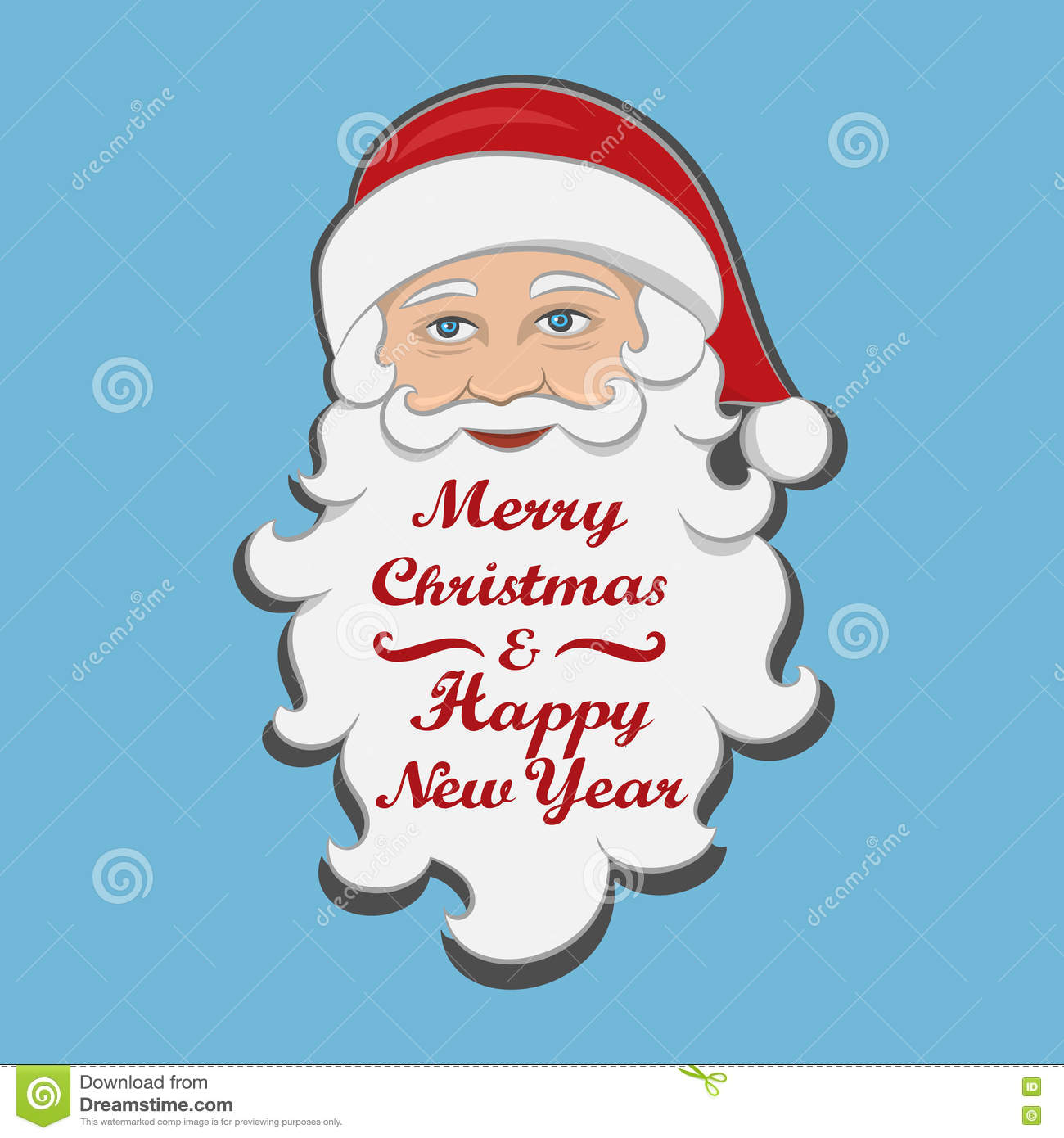 Santa Claus Isolated. Merry Christmas And Happy New Year.