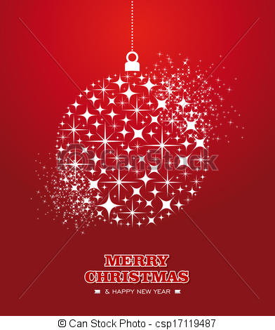 Card Merry Christmas And Happy New Year Clipart.