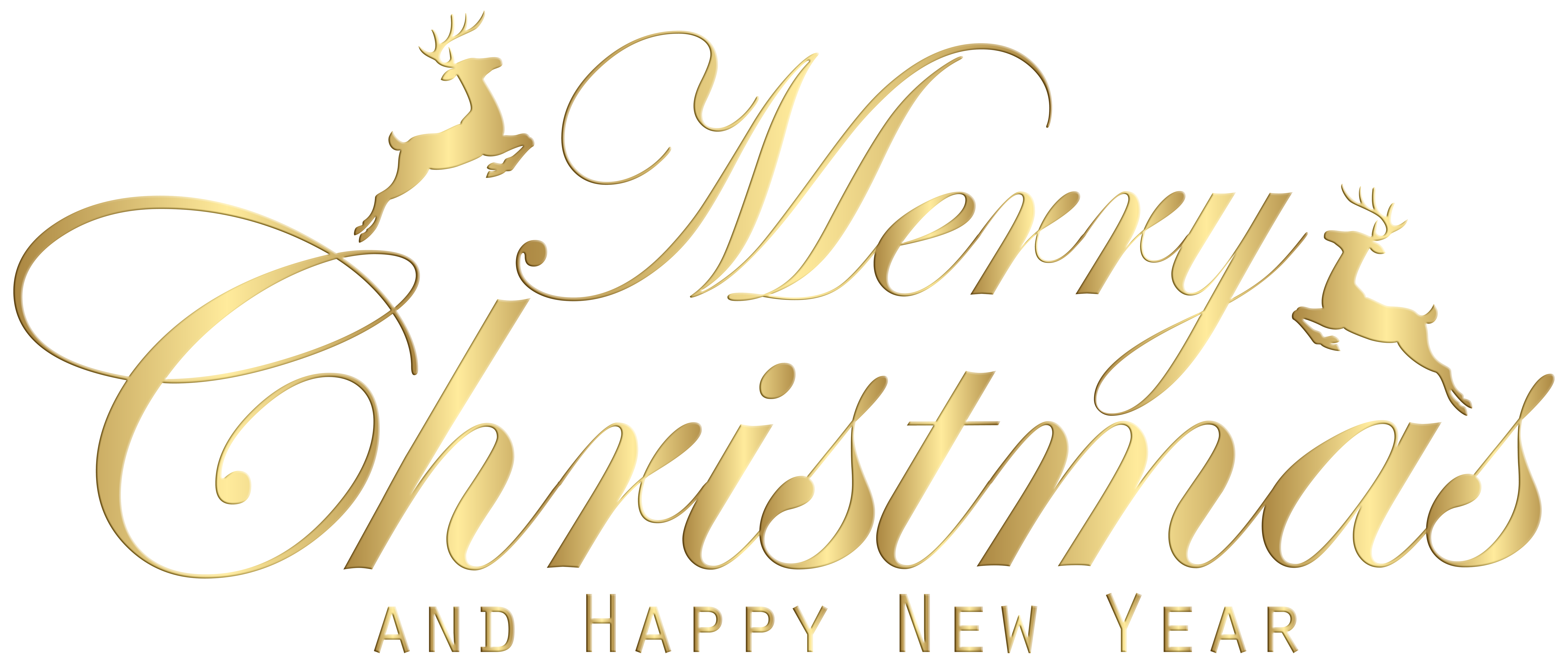 Happy New Year Merry Christmas And Clipart With Black White.