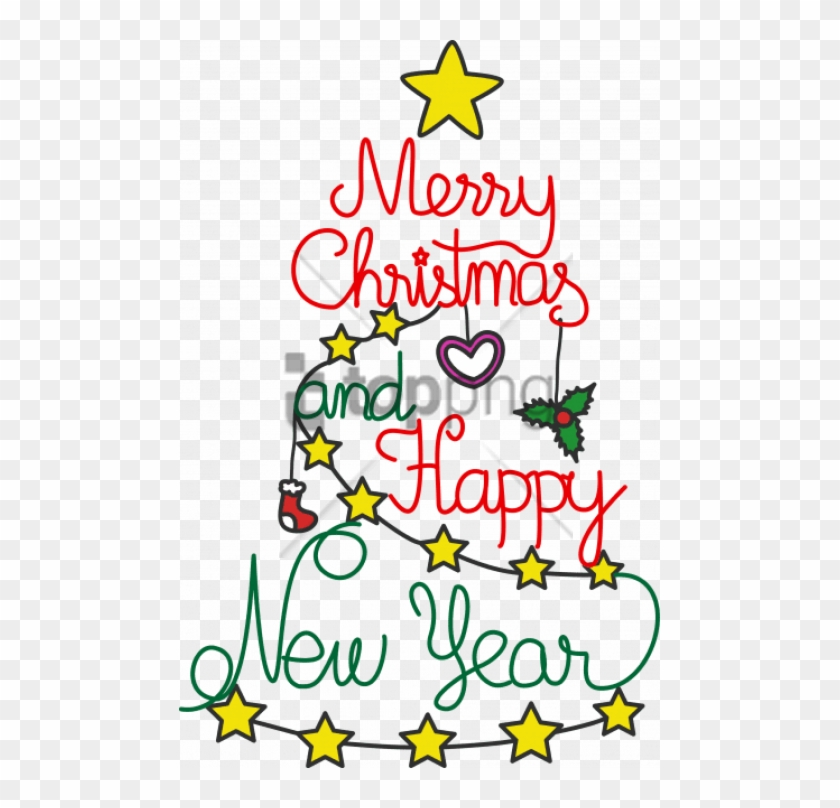 Free Png Merry Christmas And Happy New Year Png Images.