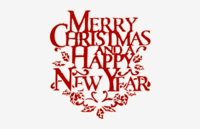 Merry Christmas And Happy New Year Png.