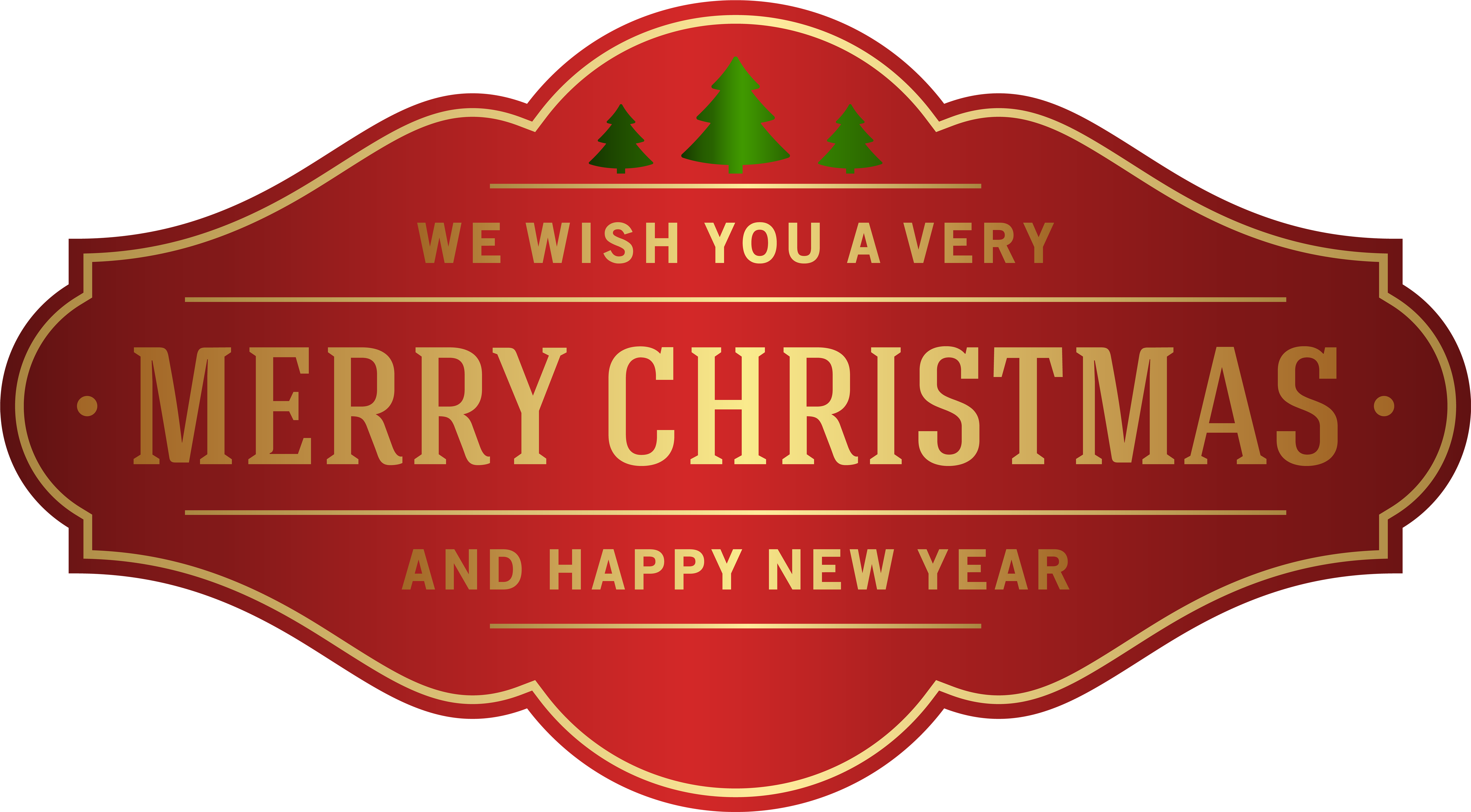 HD A Very Merry Christmas Clip Art With We Wish You Banner.