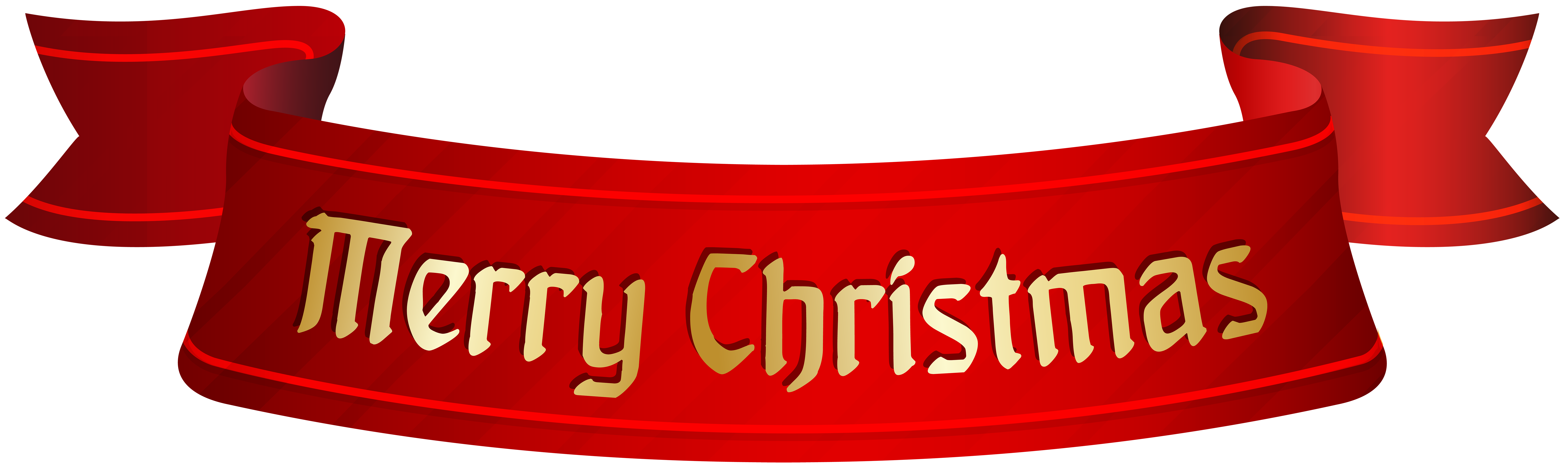 Merry Christmas Banner PNG Clip Art.