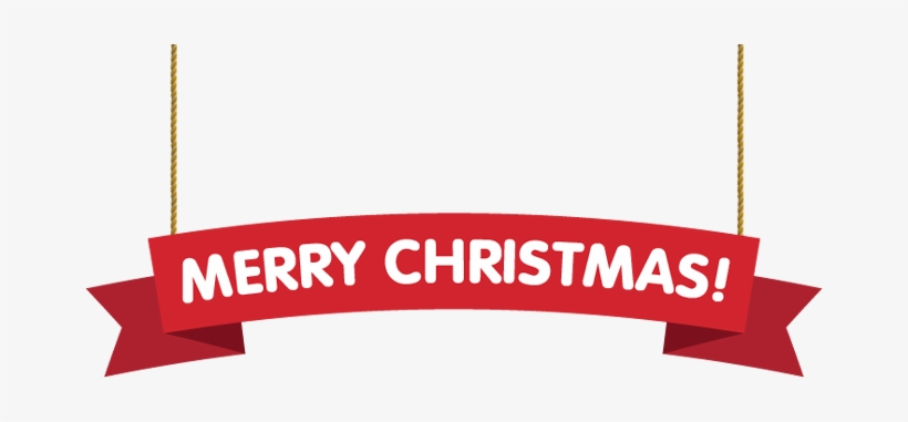 Merry Christmas Banner Png Transparent PNG.
