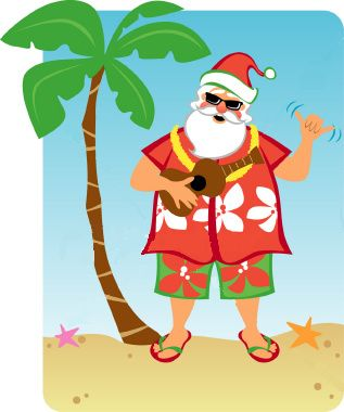 SANTA ON VACATION.