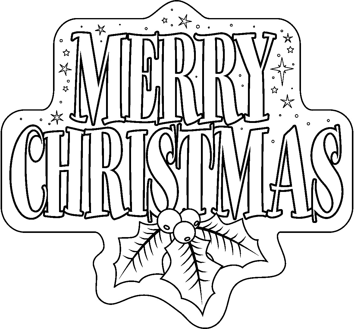 Merry christmas black and white merry christmas clipart.