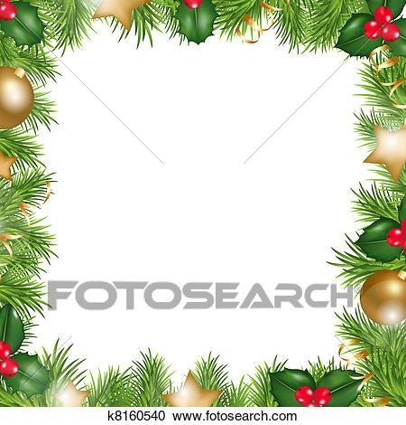 Merry Christmas Border Clipart.