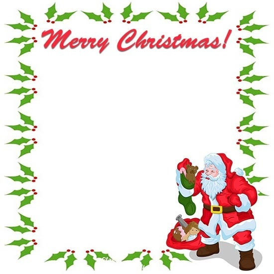 Free Christmas Borders in Merry Christmas Border Clip Art.