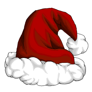 CHRISTMAS, SANTA HAT CLIP ART.