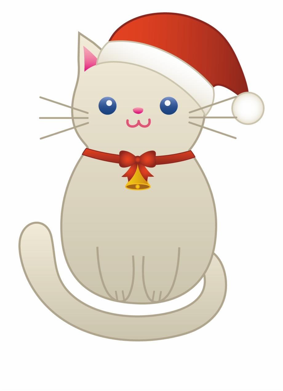 Cute Christmas Cat Clipart.