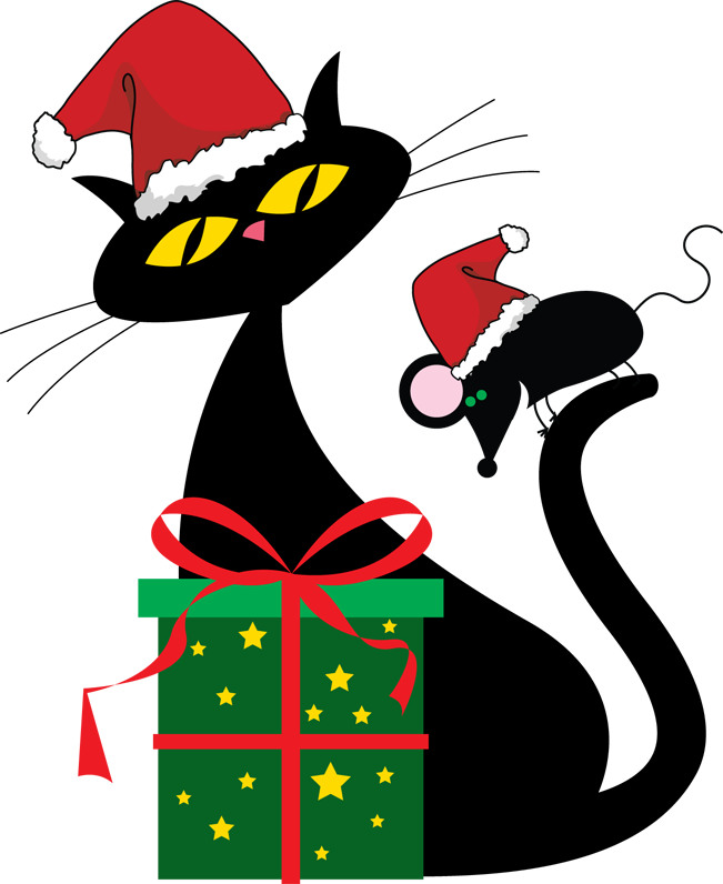 Free Christmas Cat Png, Download Free Clip Art, Free Clip.