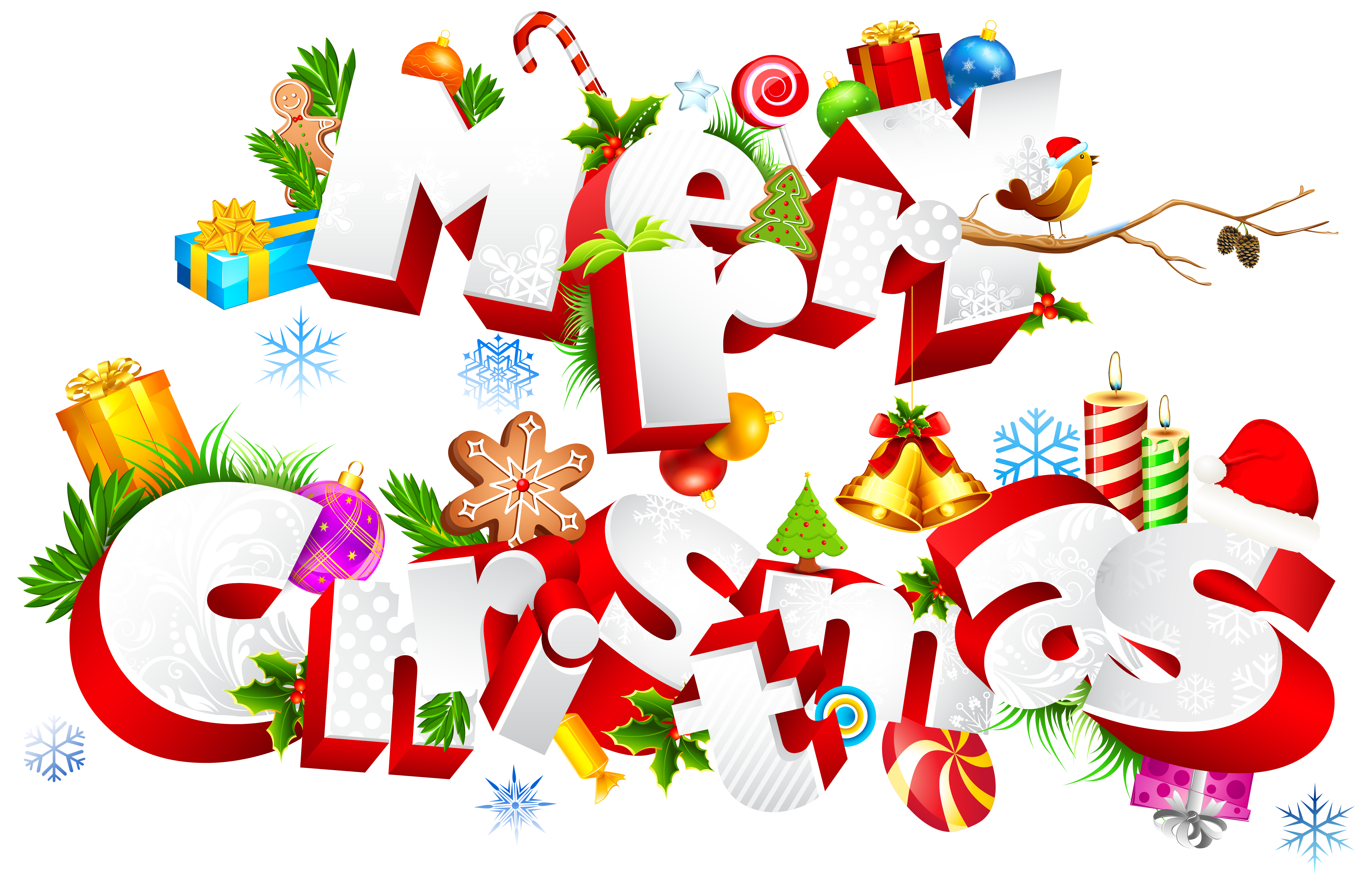 Sweet Merry Christmas PNG Clipart Image.
