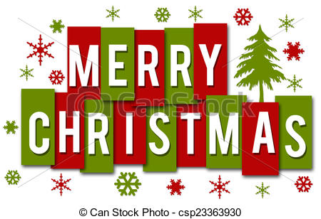 Red merry christmas clipart.