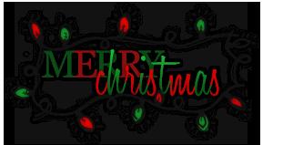 Tiny Merry Christmas Clipart.