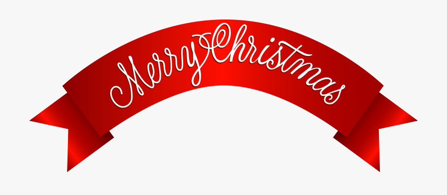 Merry Christmas Banner Png Clip Art Image.